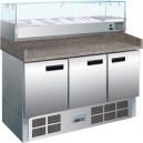Mostrador refrigerado de 3 puertas, especial para pizzas y ensaladas