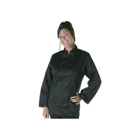 Chaqueta cocinero Vegas manga larga negra - talla XL