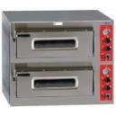 Horno eléctrico en acero inoxidable de doble cámara para 8 pizzas de 330 mm. de diámetro