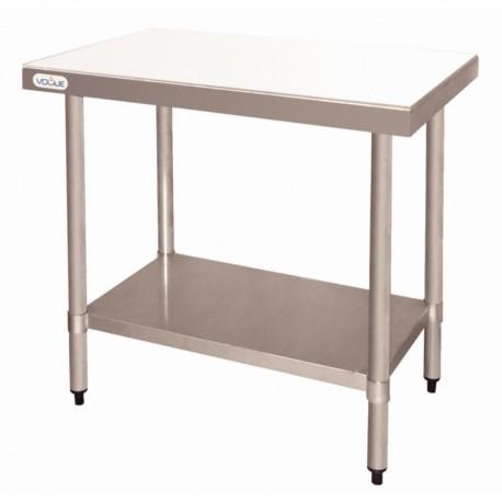 Mesa de acero inoxidable con tabla de corte - 900 x 600 x 900 mm.