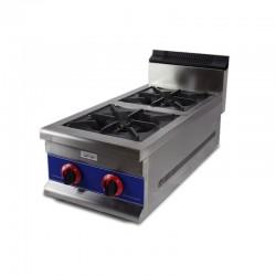 Cocina a gas de 2 fuegos de sobremesa, vertical